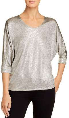 Kim & Cami Metallic Dolman-Sleeve Top