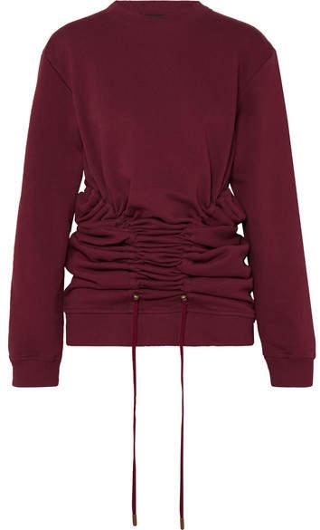 Y/Project Drawstring Cotton-jersey Sweatshirt - Plum