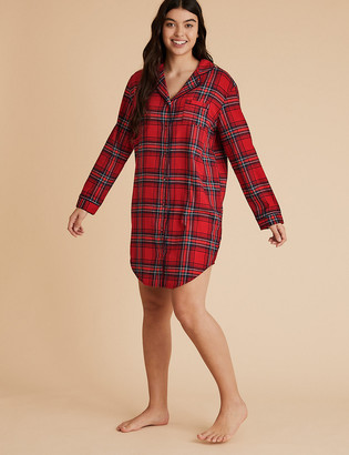 Marks and Spencer Womens Family Christmas Checked Nightshirt