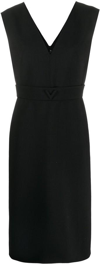 Valentino V detail midi dress