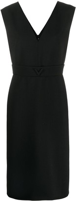 Valentino V detail midi dress