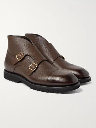 Tom Ford Kensington Pebble-Grain Leather Monk-Strap Boots