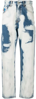 GCDS Bleach straight leg jeans