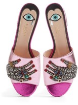 Gucci Women's Wangy Embellished Slide Sandal