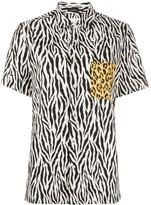 R 13 Tony Animal Print Shirt
