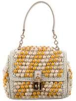 Dolce & Gabbana Beaded Woven Raffia Satchel