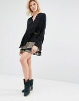 Gat Rimon Inta Embroidered Mini Skirt