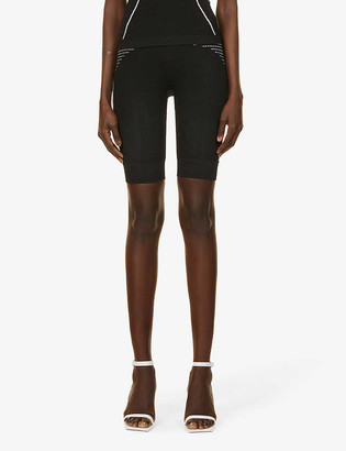 Off-White Seamless stretch-woven high-rise cycling shorts