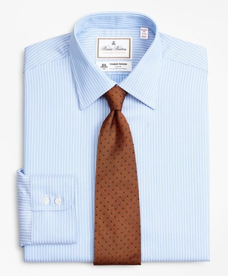 Brooks Brothers Luxury Collection Madison Classic-Fit Dress Shirt, Franklin Spread Collar Ground Stripe