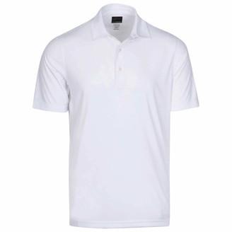 Greg Norman Mens Protek ML75 2Below Plain Polo Shirt - White - M