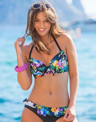 Pour Moi? Miami Brights Tropical Adjustable Underwired Halter Bikini Top