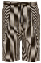 TOMORROWLAND Striped cotton-gabardine shorts
