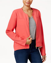 Rachel Roy Collarless Bomber Jacket, Only at Macy's