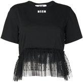 MSGM tulle hem T-shirt - women - Cotton - M
