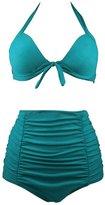 Wantdo Women's Bikini Push Up Swimsuit Dress Swimwear Beachwear Plus