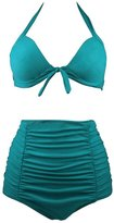 Wantdo Women's Cut Slim Swim Dress Fashion Swimsuit Two-Piece Halter Swimwear