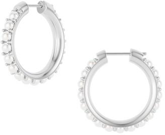 Spinelli Kilcollin Silver & 3MM Round Akoya Pearl Hoop Earrings