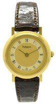 Burberry 6000 Gold Plated & Leather Quartz 26mm Womens Watch