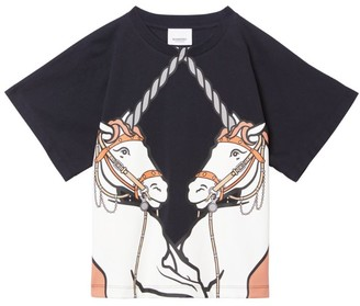 Burberry Kids Cotton Unicorn T-Shirt (3-12 Years)