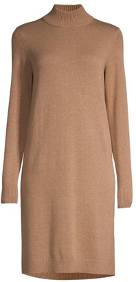 HUGO BOSS Belletta Wool-Blend Long-Sleeve Dress