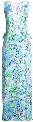 Lilly Pulitzer Dona Tropical Floral-Print Maxi Jumpsuit