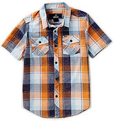 Buffalo David Bitton Big Boys 8-20 Sarlo Plaid Dobby Short-Sleeve Shirt