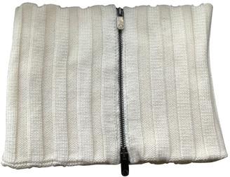 Dirk Bikkembergs White Wool Scarves