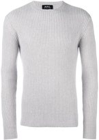 A.P.C. crew neck ribbed pullover
