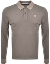 C.P. Company Long Sleeved Polo T Shirt Khaki