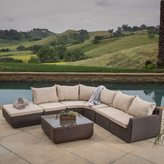 Christopher Knight Home Carmel 7-piece Outdoor Sofa Sectional with Sunbrella Cushions