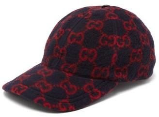 Gucci GG-print Wool-blend Felt Cap - Mens - Navy