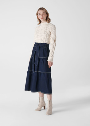 Hilde Tiered Denim Skirt