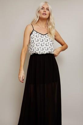 Girls On Film Floral Print 2 in 1 Strappy Midi Dress