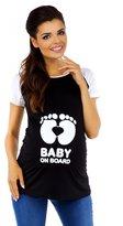 Zeta Ville Fashion Zeta Ville Maternity - Womens funny print T-shirt Top Raglan Sleeves - 575c