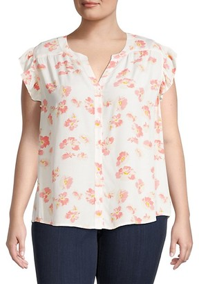 Sanctuary Firefly Floral Short-Sleeve Shirt