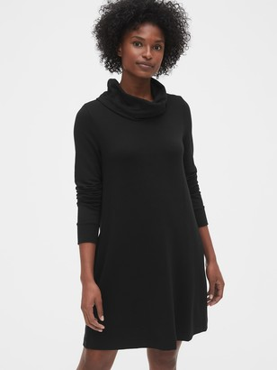 Gap Cowl-Neck Swing Sweatshirt Dress