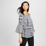Notations Women's Mixed Printed Knit Top