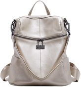 BOYATU Women Leather Backpack Fashion Travel Bag Large Capacity Shoulder Bag