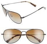 Salt Men's 'Warner' 60Mm Polarized Sunglasses - Black Sand/ Brown