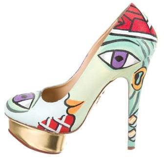 Charlotte Olympia Dolly Picasso Painted Pumps