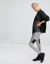 Boohoo Metallic Legging With Panels