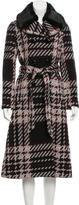 Kate Spade Faux Fur-Trimmed Tweed Coat w/ Tags