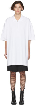 Random Identities White Oversized Cut-Out Polo