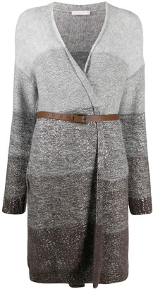Fabiana Filippi Belted Colour-Block Cardigan