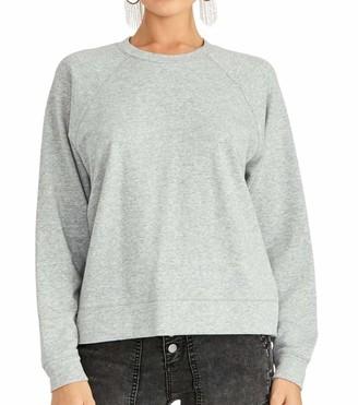 Rachel Roy Womens Gray Eyelet Long Sleeve Crew Neck Sweater Size: XXL