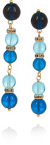 Etro Gold-plated, Bead And Swarovski Crystal Earrings - Blue