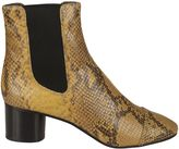 Isabel Marant Printed Python Danae Ankle Boots