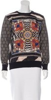 Just Cavalli Wool Abstract Print Top w/ Tags