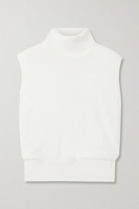 The Row Chano Merino Wool And Cashmere-blend Turtleneck Sweater - White