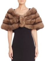 Carmen Marc Valvo Sable Fur Stole